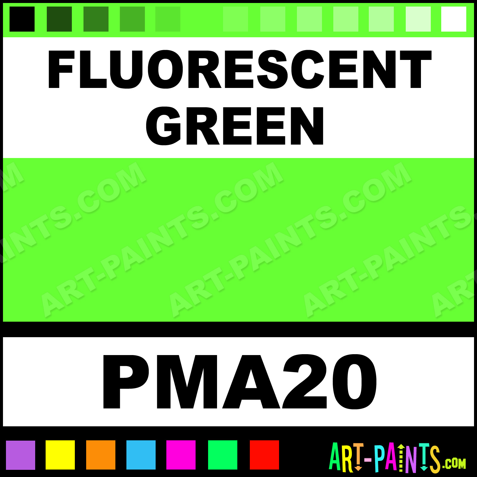 Fluorescent Green Paint Marker