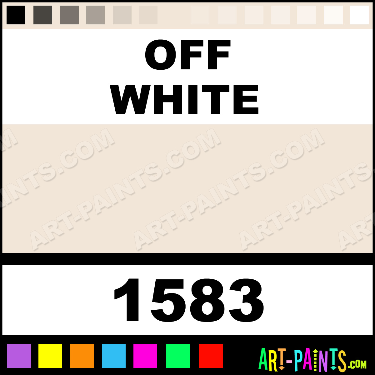 Off White Matte Metal and Metallic Paints - 1583 - Off White Paint ...