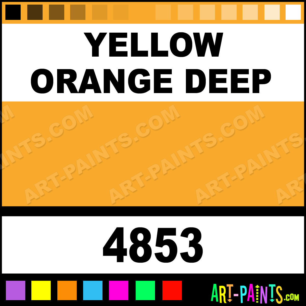 orange deep paint yellow orange deep color artists matte paint