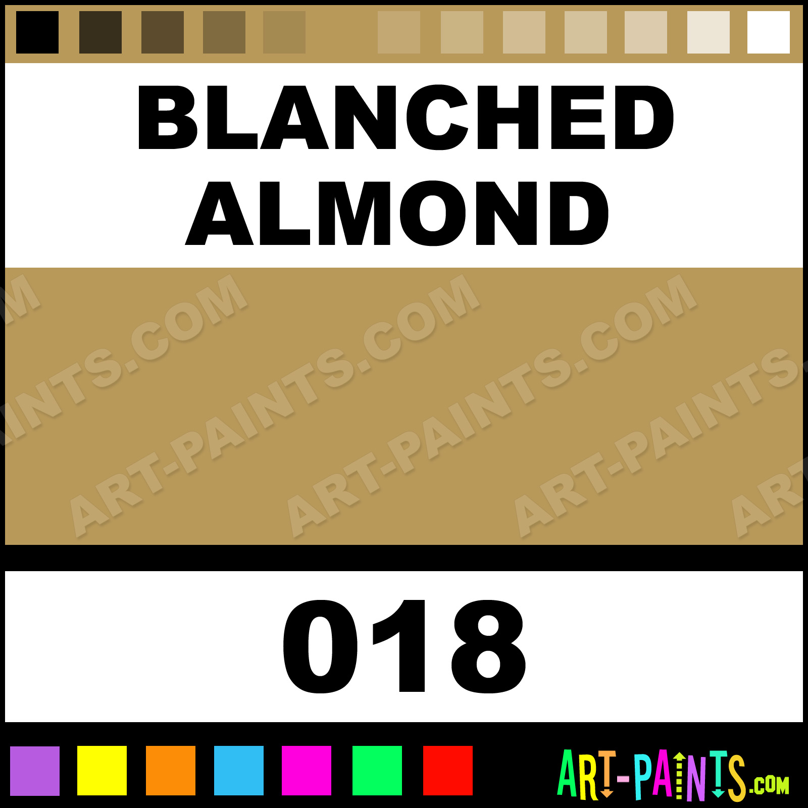 Blanched Almond Silk Soft Metal Paints and Metallic Paints - 018 ...
