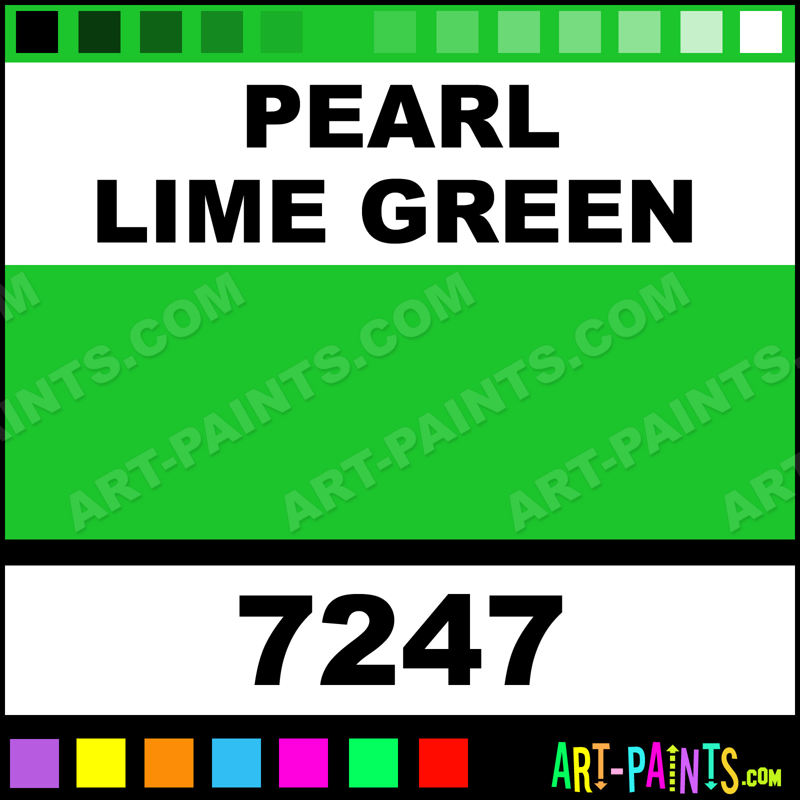 Pearl Lime Green Medium Body Metal And Metallic Paints 7247 Pearl Lime Green Paint Pearl
