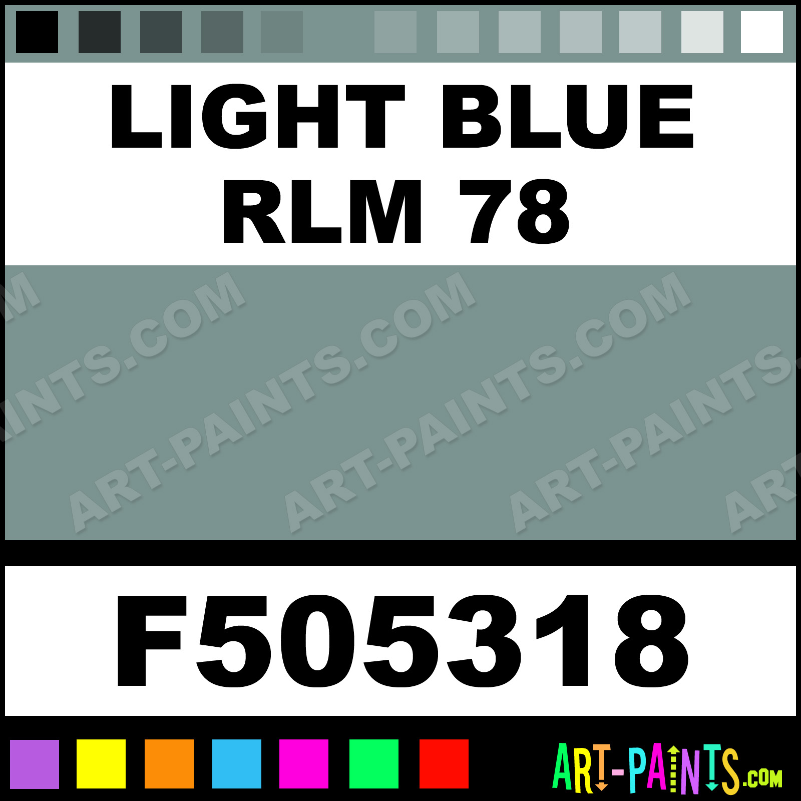 Light blue rlm 78 military model metal paints and metallic paints light blue rlm 78 nvjuhfo Choice Image