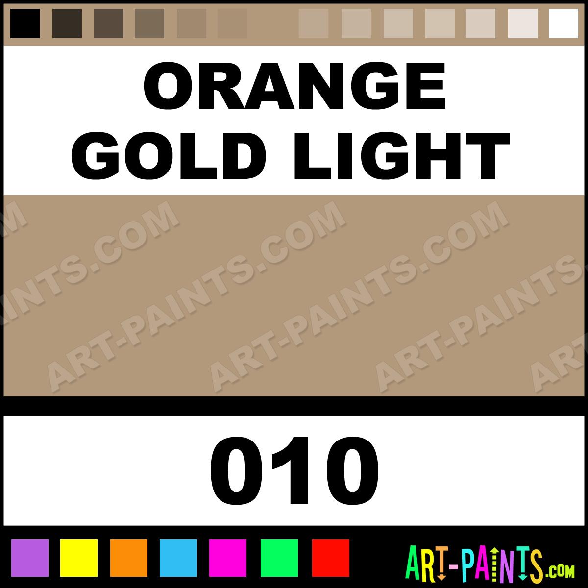 Orange Gold Light Artists Acrylics Metal And Metallic