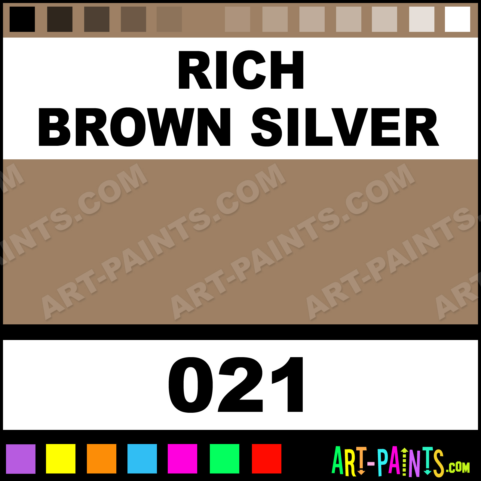rich brown silver artists acrylics metal and metallic