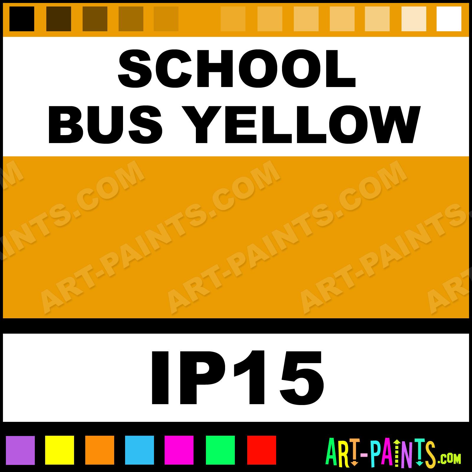 School Bus Yellow Industrial Metal And Metallic Paints