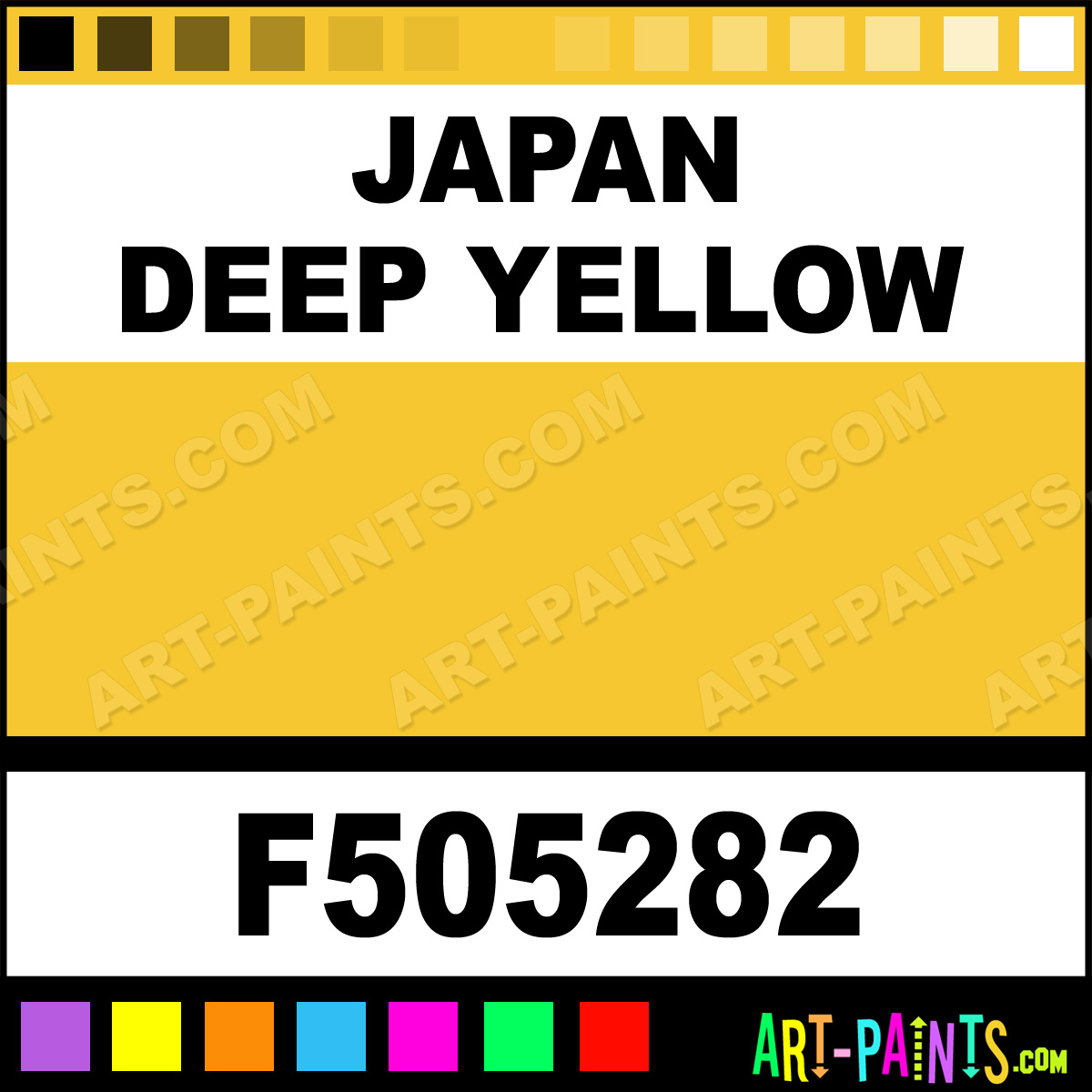 Japan Deep Yellow Model Metal Paints And Metallic Paints
