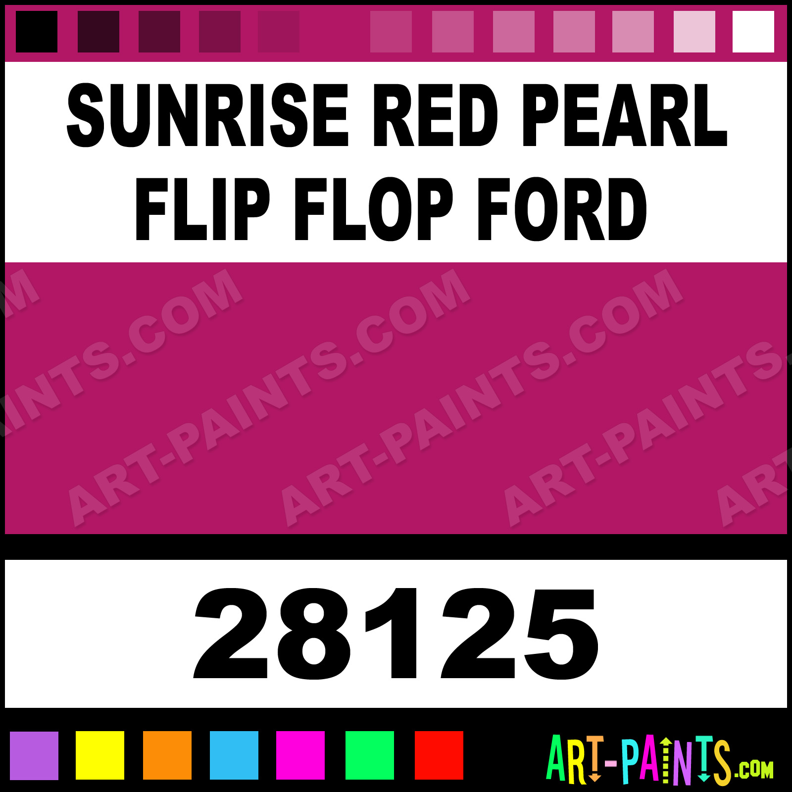Sunrise Red Pearl Flip Flop Ford Model Metal Paints And Metallic Paints 28125 Sunrise Red