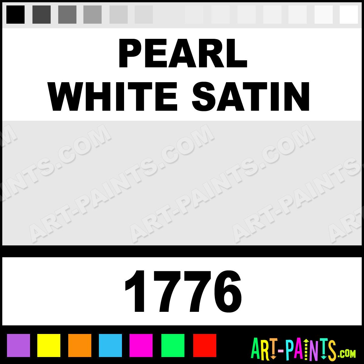 Pearl White Satin Lg
