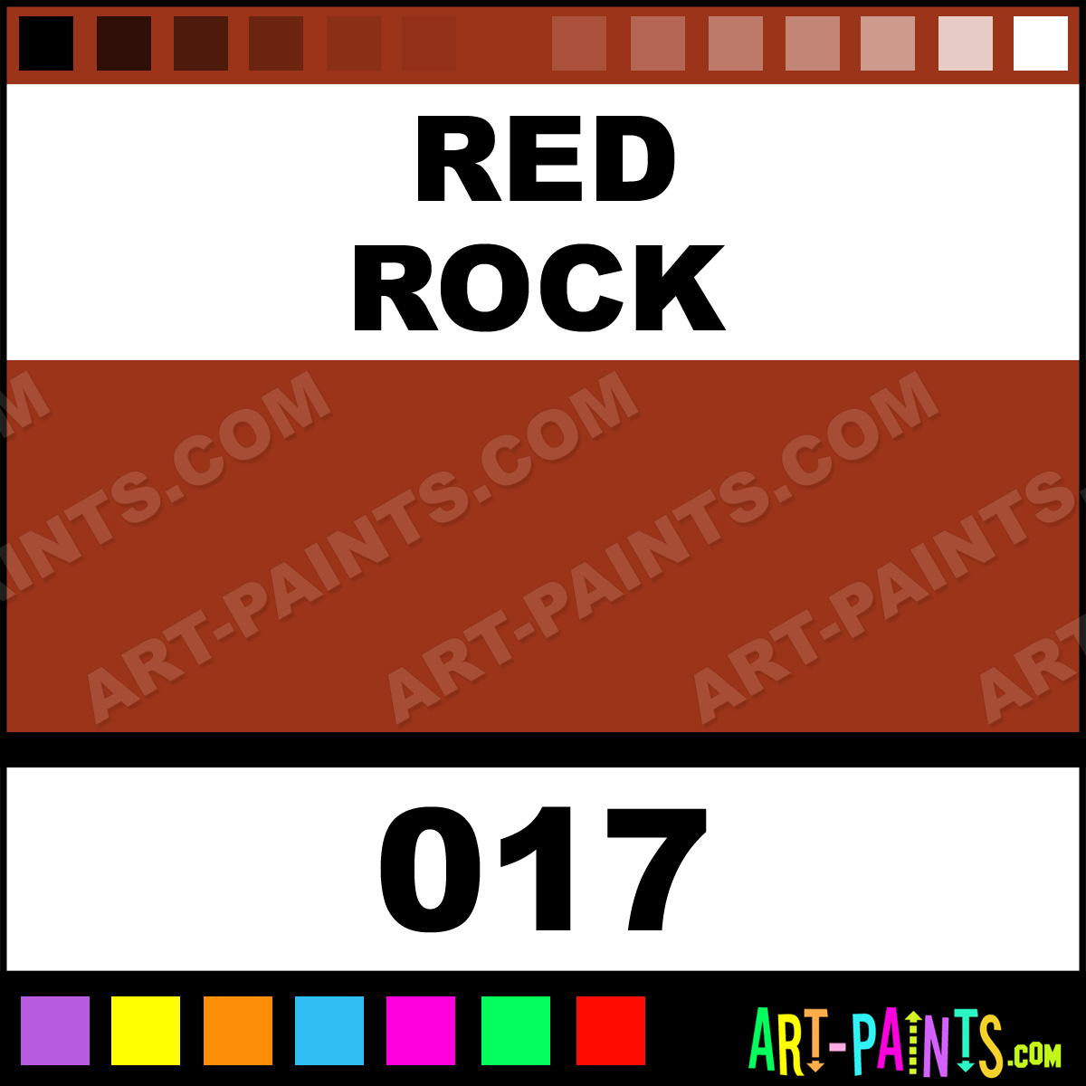 Red Rock Pearlescent Shimmer Metal and Metallic Paints - 017 - Red ...