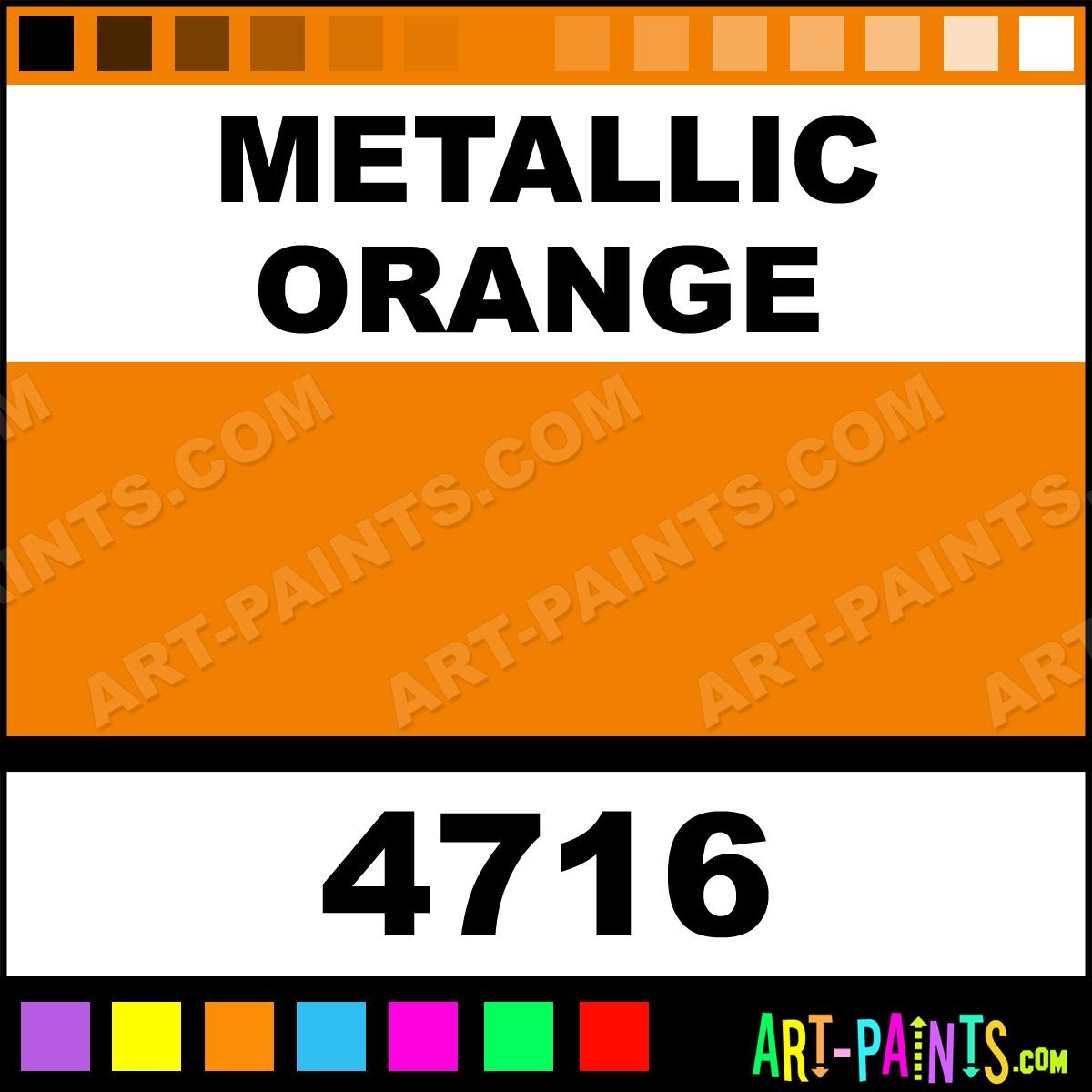 Metallic Orange Ultra Washable Tempera Metal And Metallic Paints 4716 Metallic Orange Paint