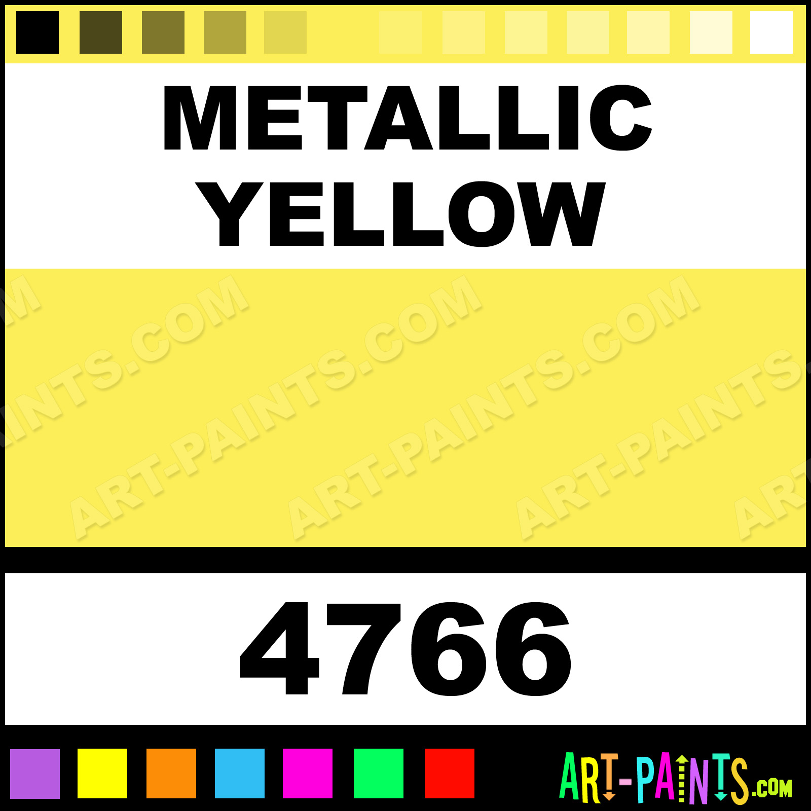 Metallic yellow ultra washable tempera metal and metallic for Metallic yellow paint