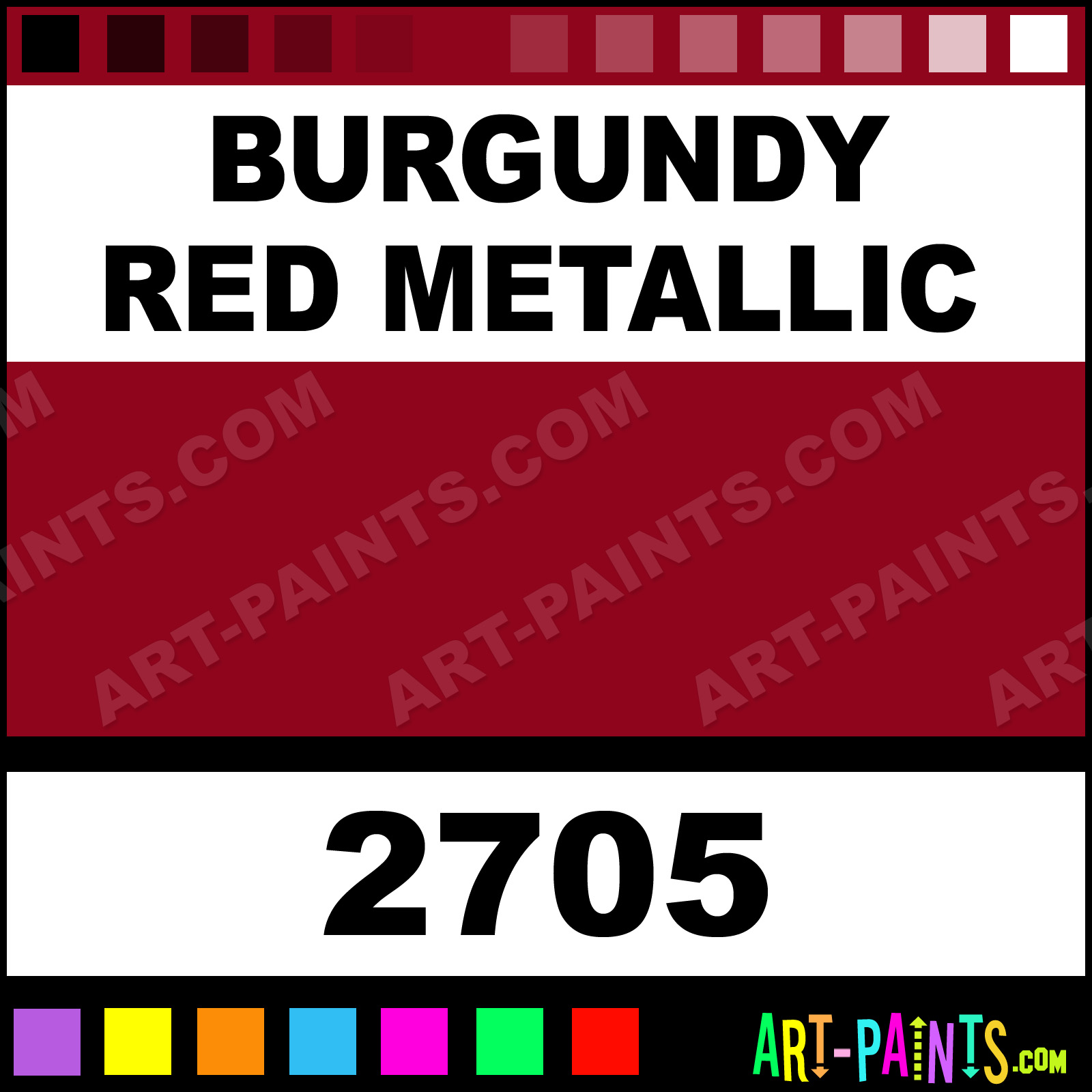 Burgundy Red Metallic Paint