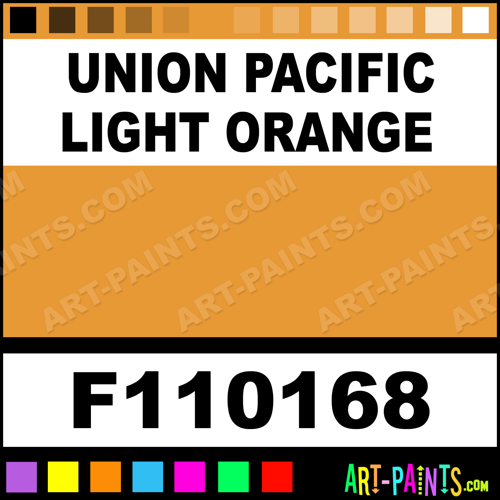 Union Pacific Light Orange Model Metal Paints And Metallic