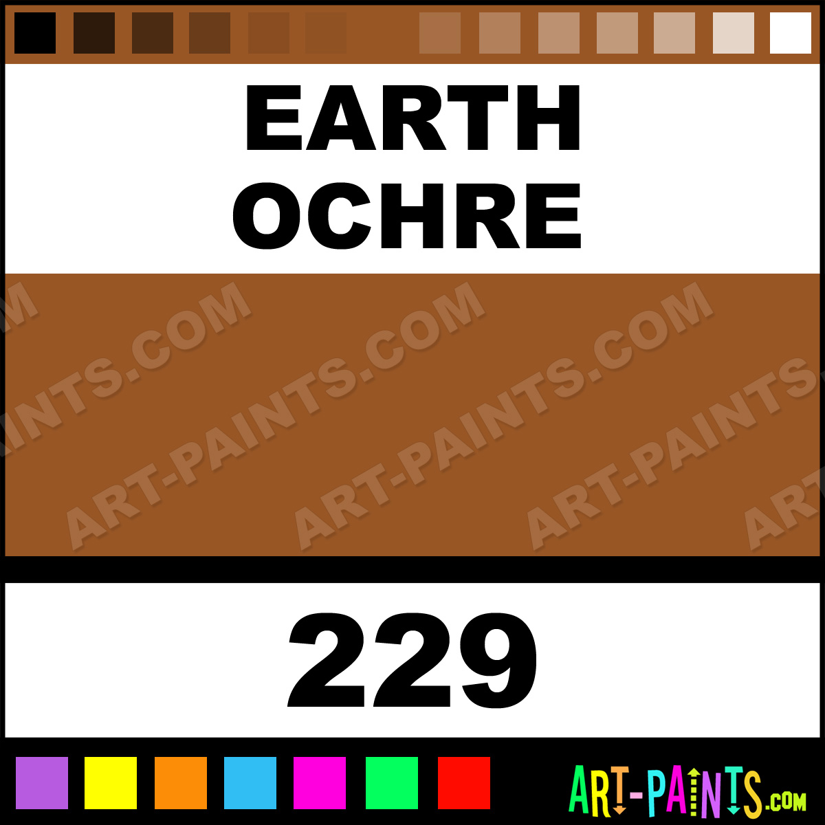 Earthy Ochre Paint Color: Earth Ochre Classic Oil Paints
