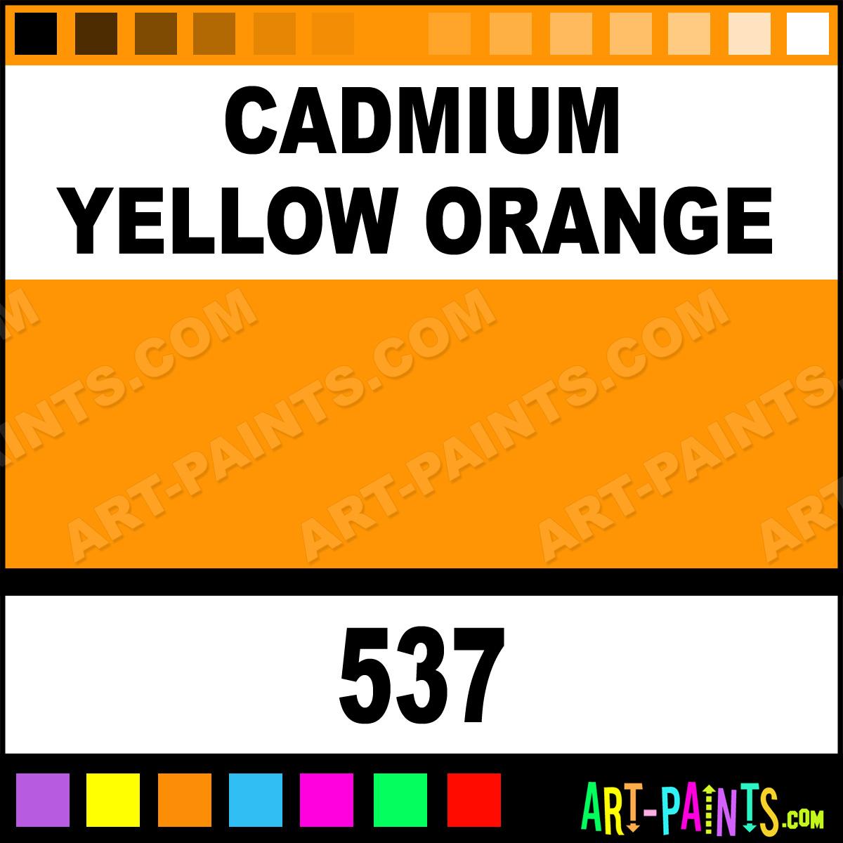 Cadmium Yellow Orange Colors Oil Paints 537 Cadmium