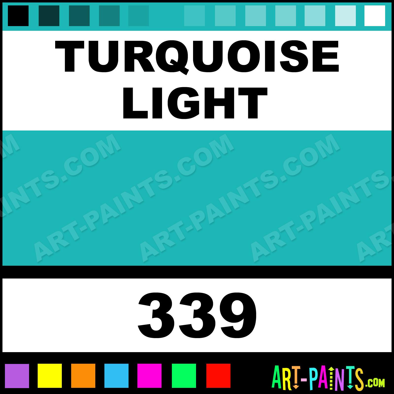 Turquoise Light Colors Oil Paints