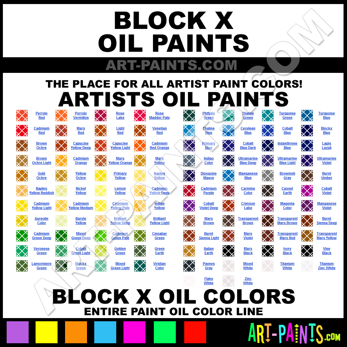 Artist Paint Colors Blockx Artist Paints