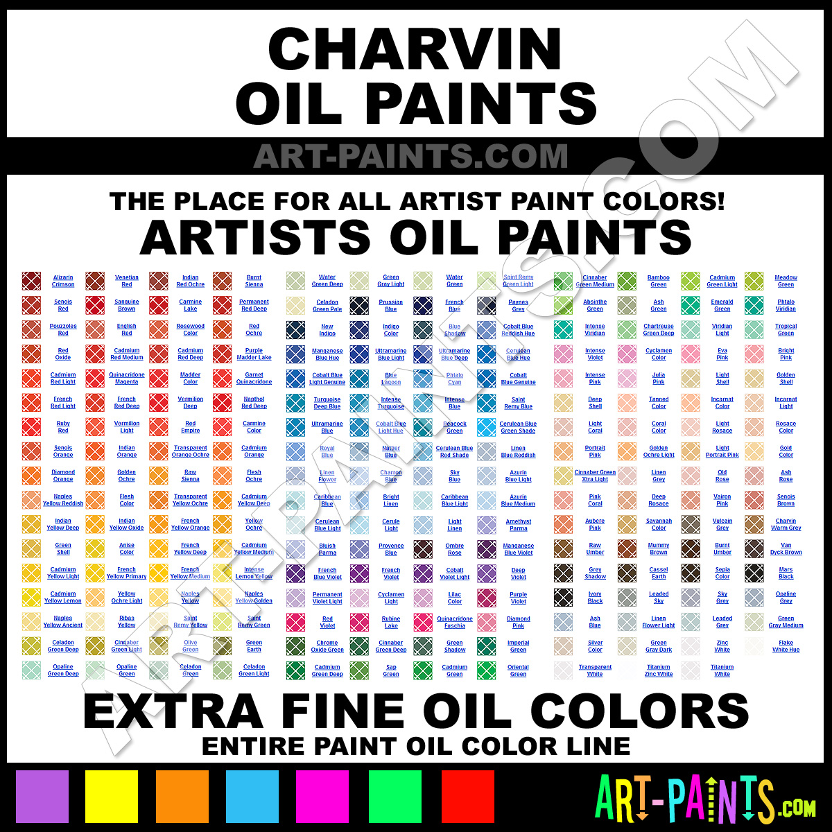 Paint color names home design for Oil paint colors names