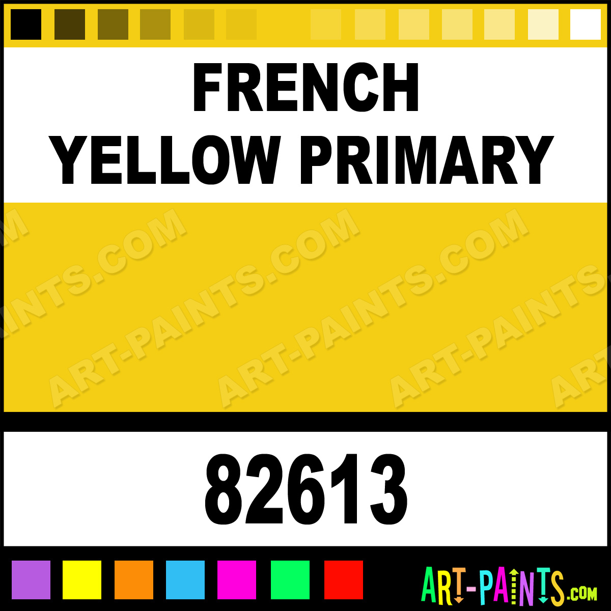 french yellow primary fine oil paints 82613 french