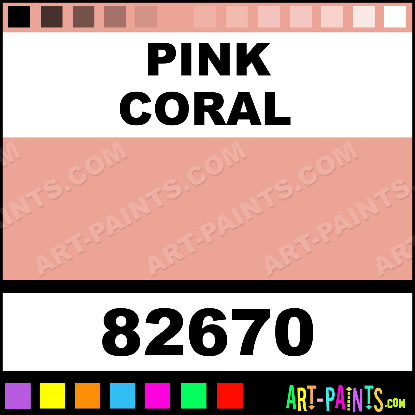 Pink Coral Fine Oil Paints