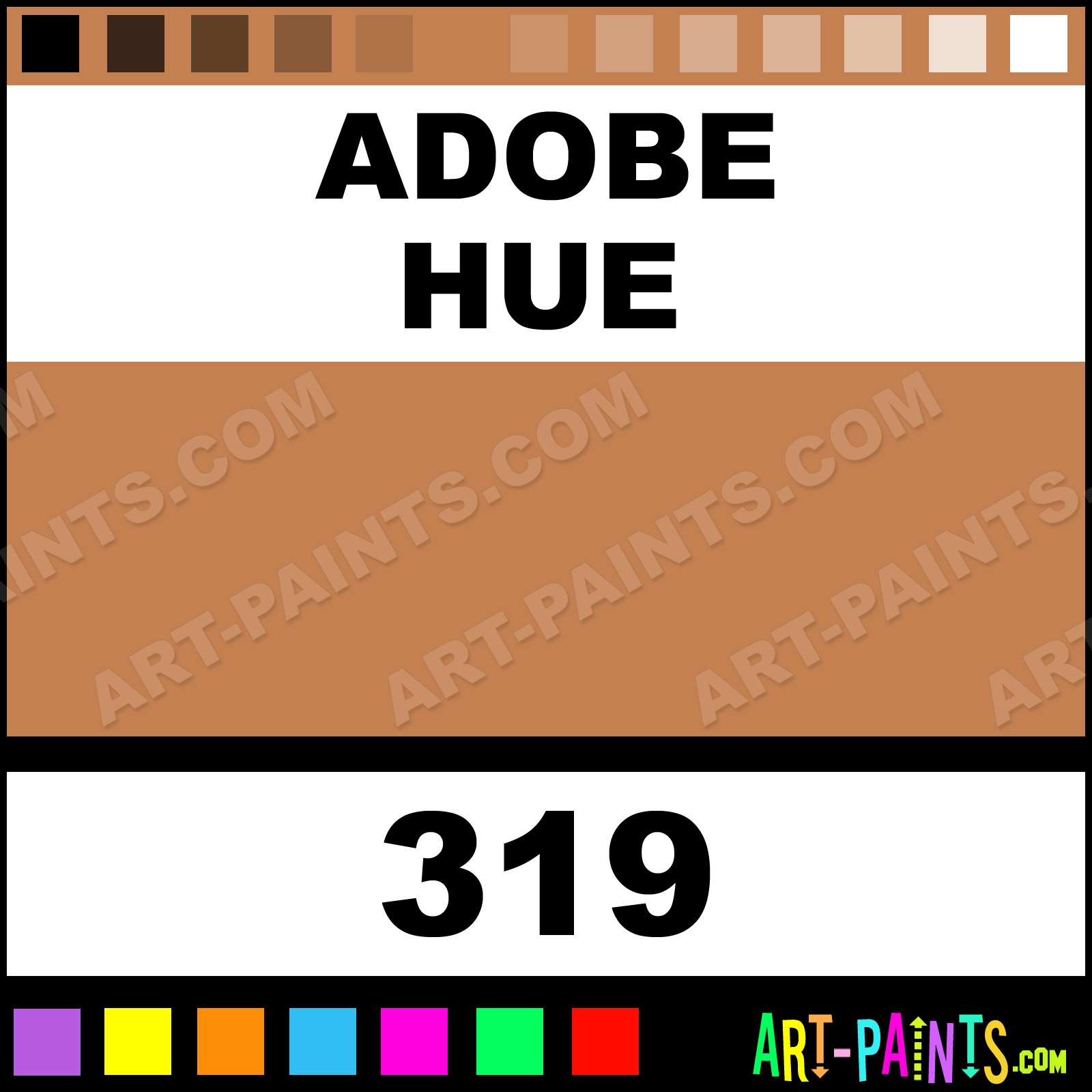 Adobe artist oil paints 319 adobe paint adobe color for Oil paint colors names