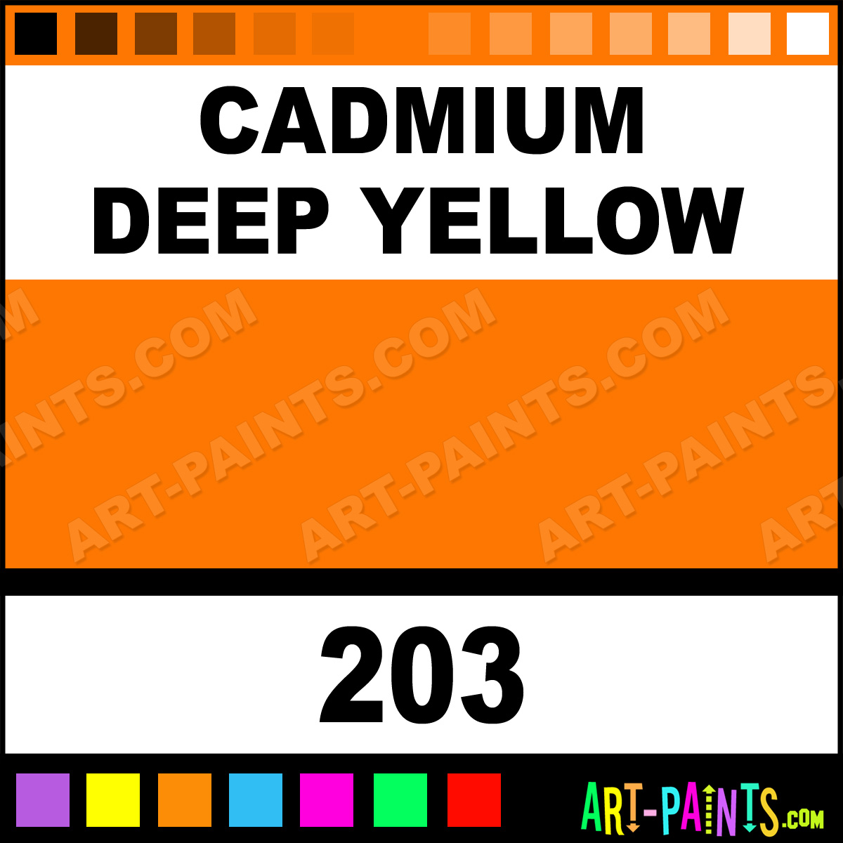 Cadmium Deep Yellow Artist Oil Paints 203 Cadmium Deep