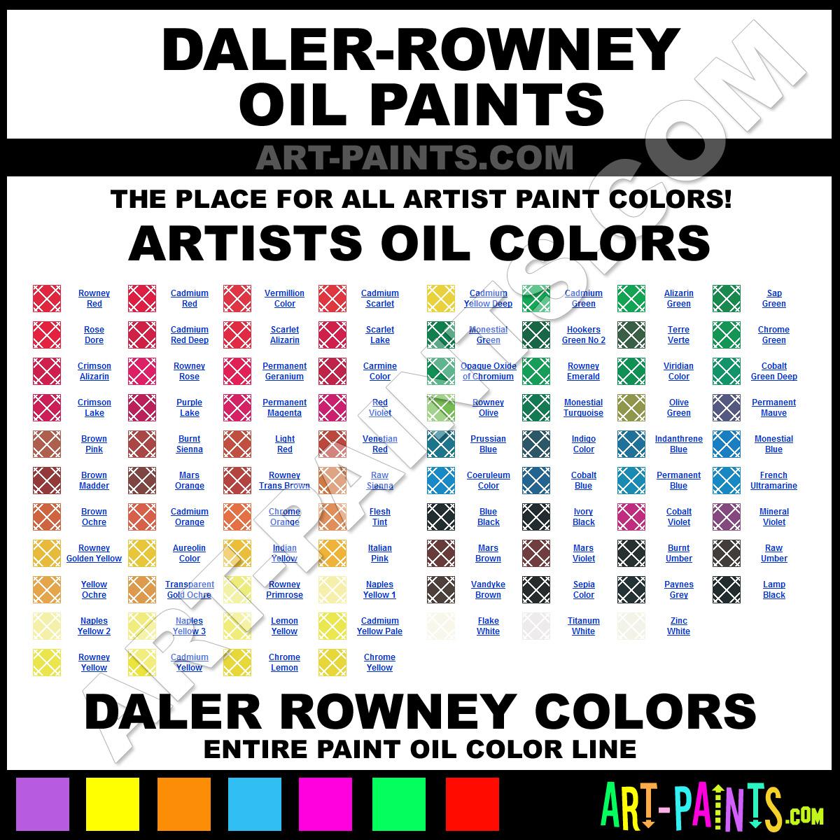 Paint Colors And Brands: Daler-Rowney Oil Paint Brands