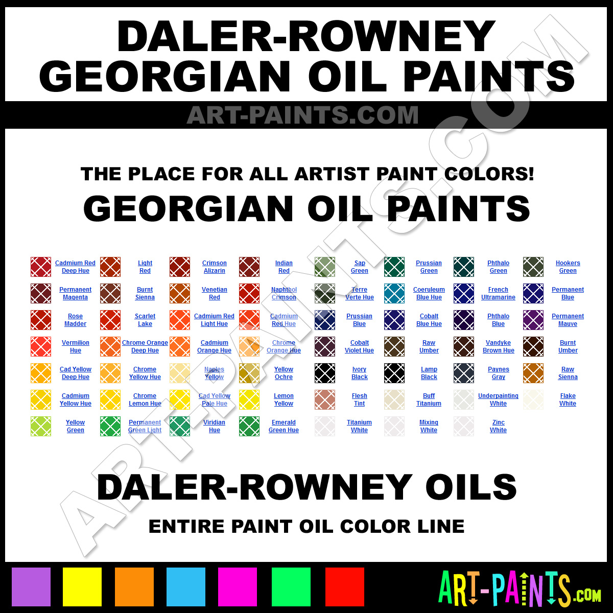 Daler Rowney Georgian Oil Paint Colors Daler Rowney Georgian Paint Colors Georgian Color