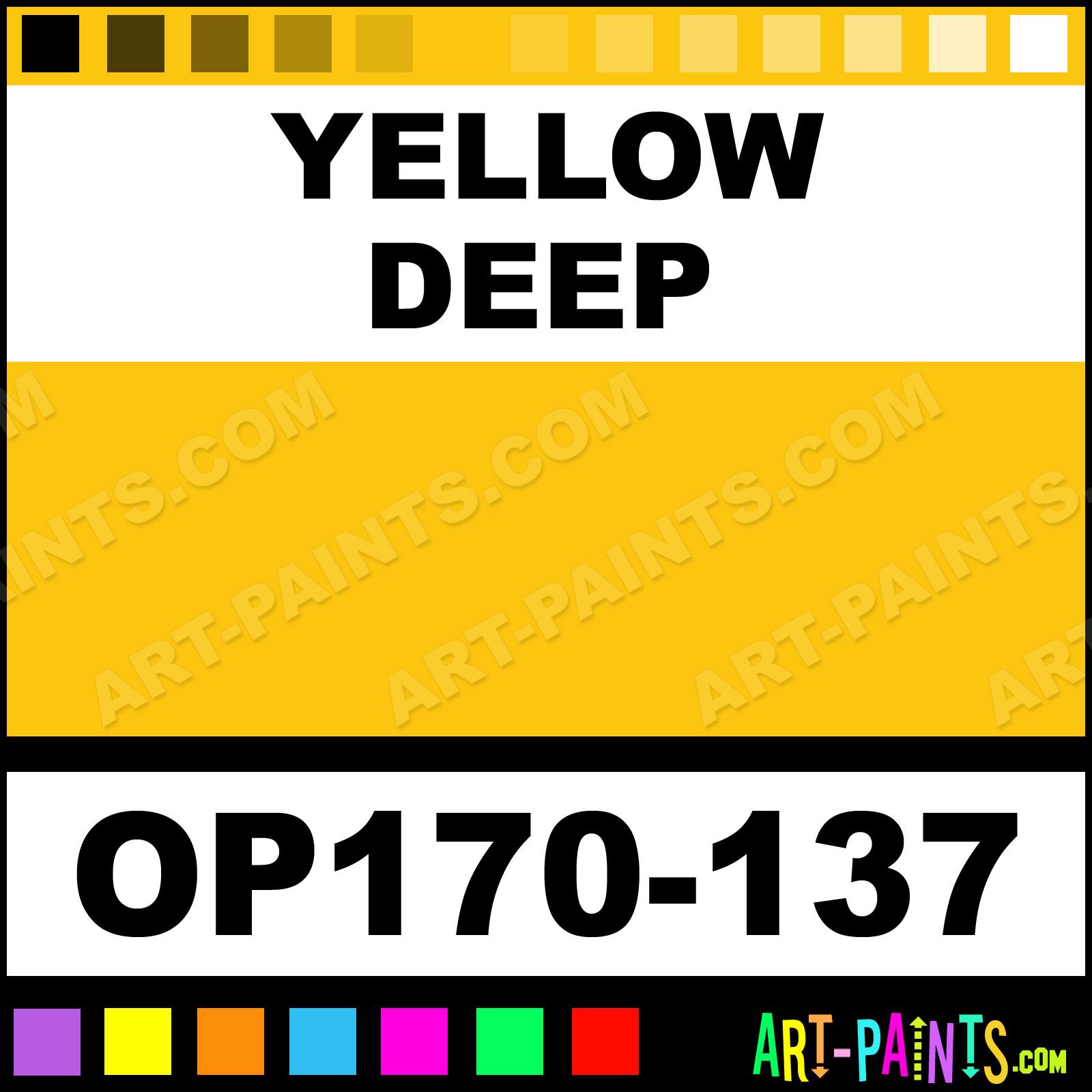 Yellow Deep Artist Oil Paints Op170 137 Yellow Deep