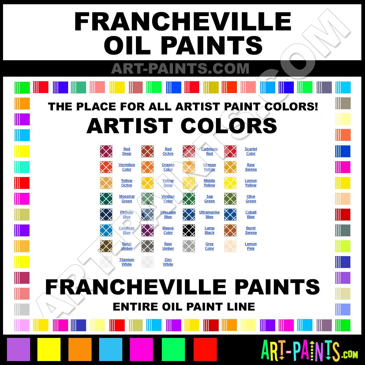 Paint Colors And Brands: Francheville Oil Paint Brands