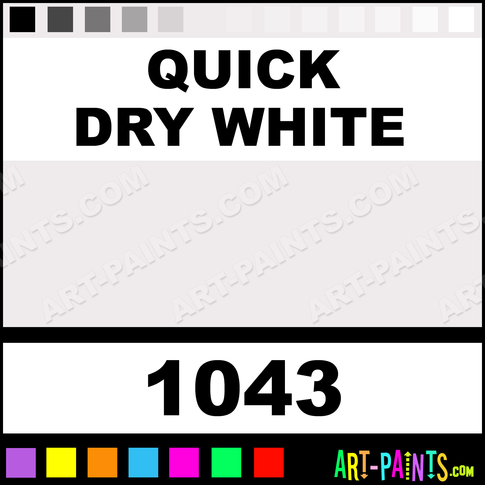 Quick dry white artists oil paints 1043 quick dry for Fast drying craft paint