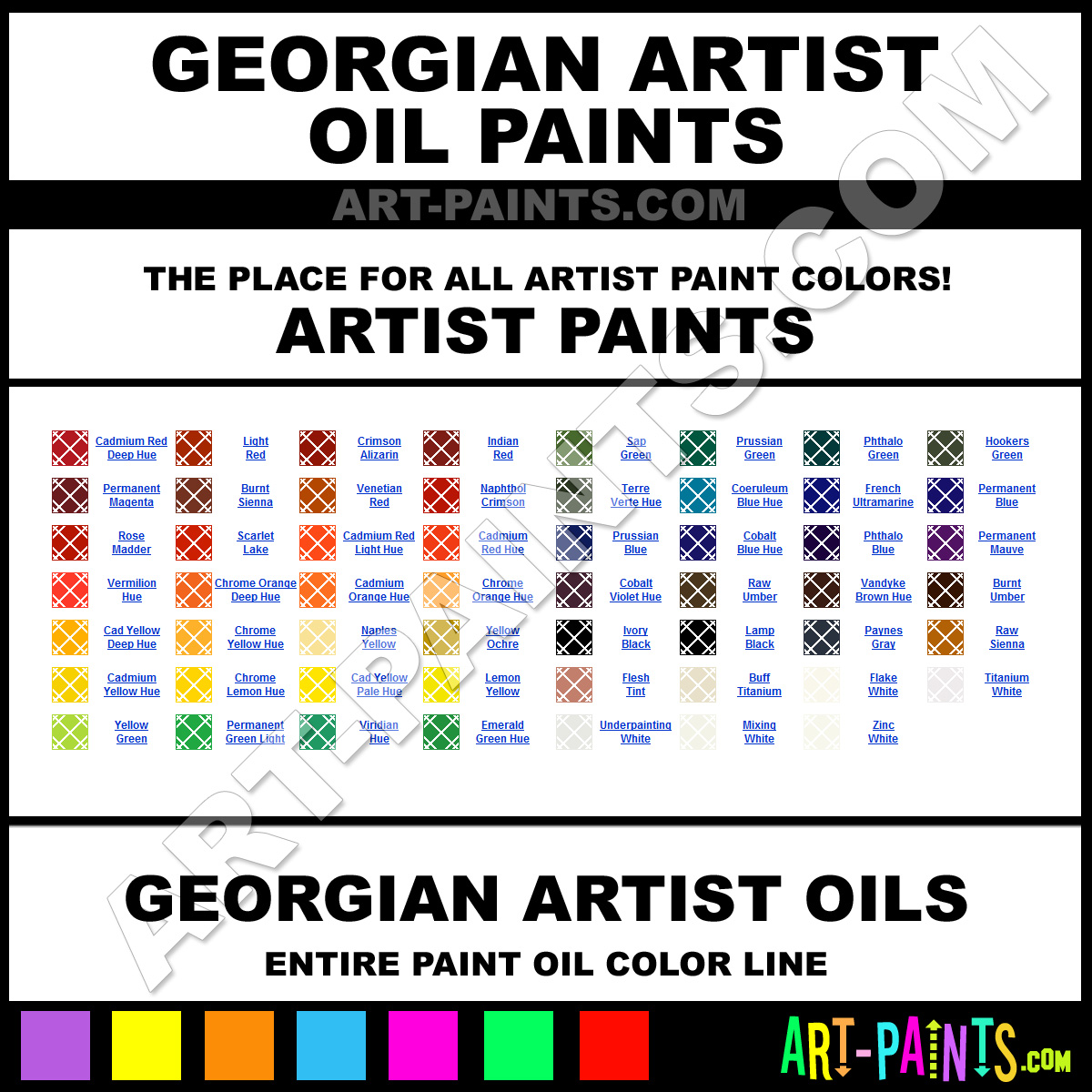 Artist Paint Colors Georgian Artist Paints