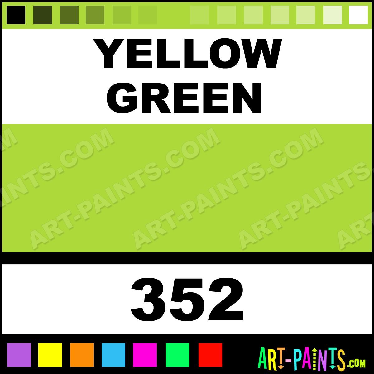 yellow green artist oil paints - 352 - yellow green paint, yellow