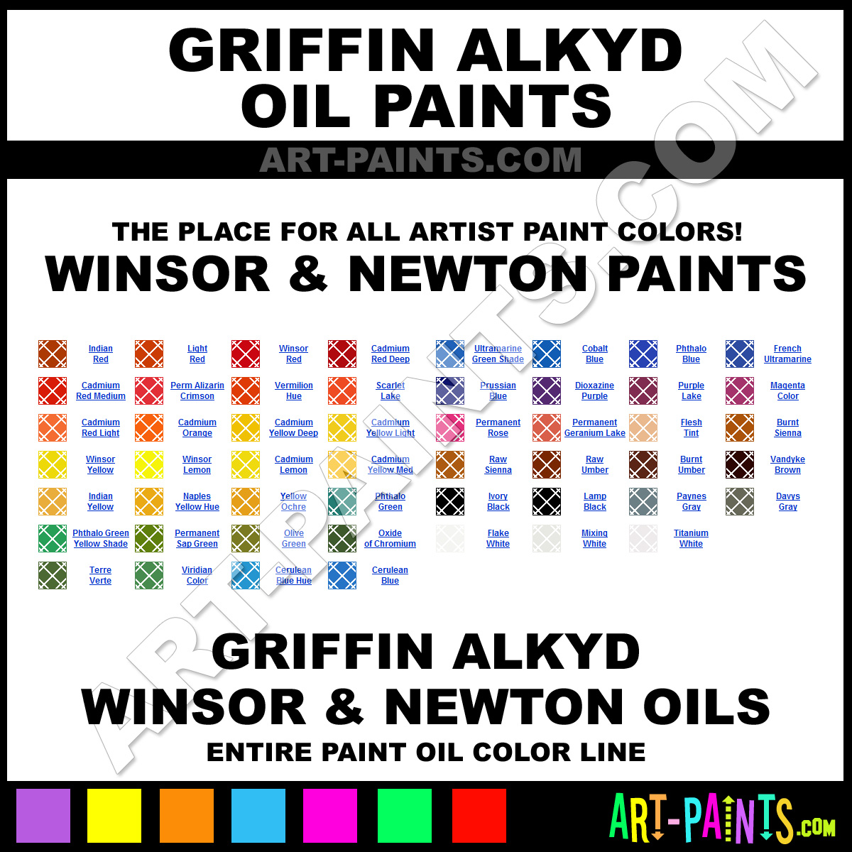 Griffin Alkyd Winsor And Newton Oil Paint Colors Griffin