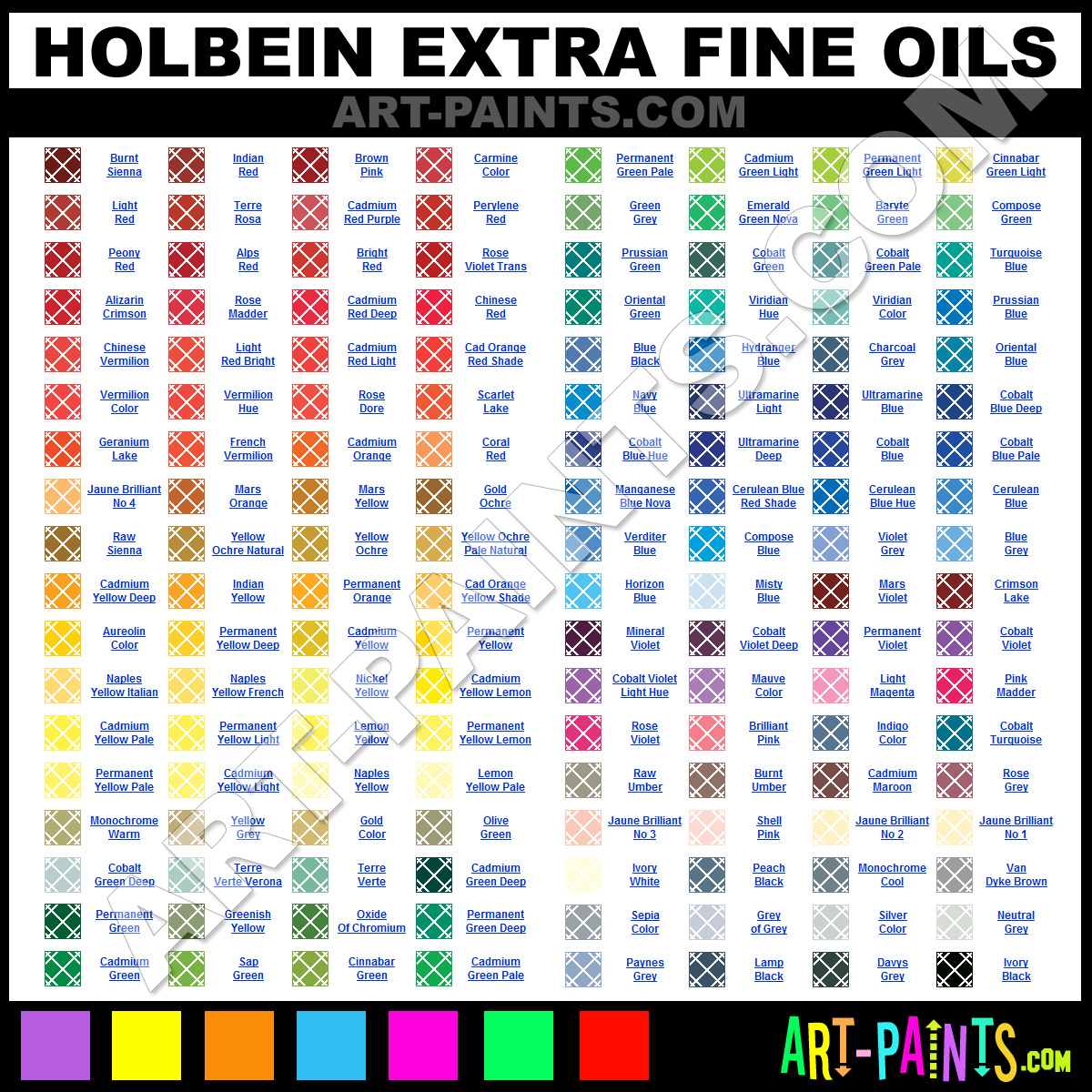 Holbein extra fine oil paint colors holbein extra fine paint holbein extra fine oils nvjuhfo Choice Image