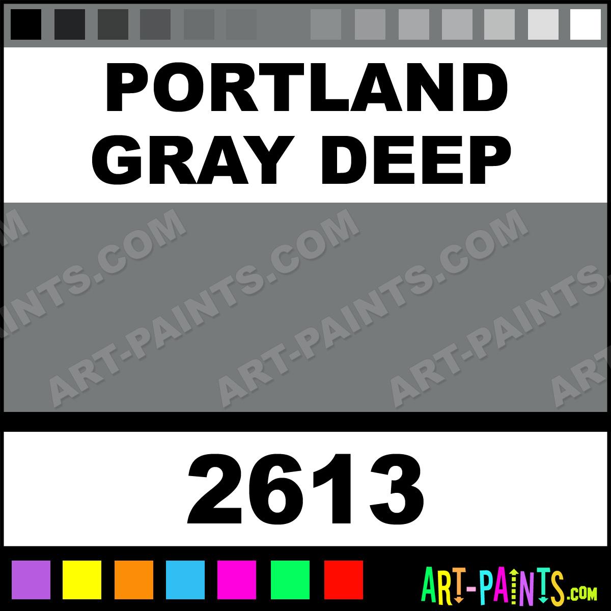 Portland Gray Color Family : Portland gray deep gamblin oil paints