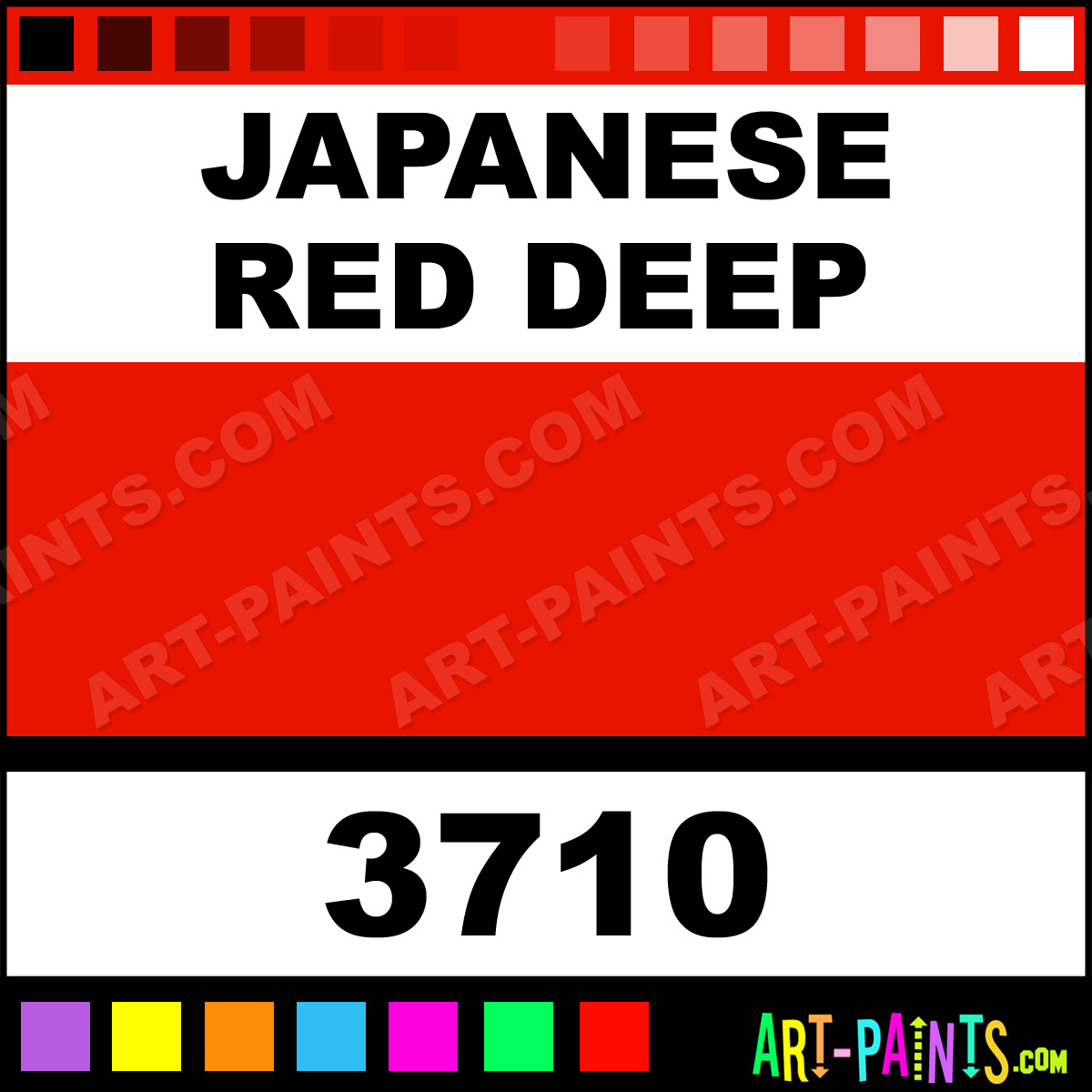Color in japanese art - Japanese Red