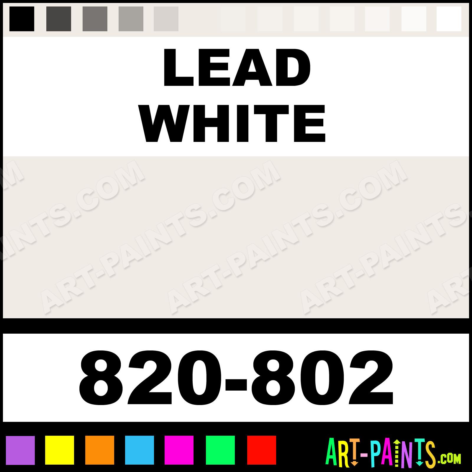 Lead White Artist Oil Paints 820 802 Lead White Paint