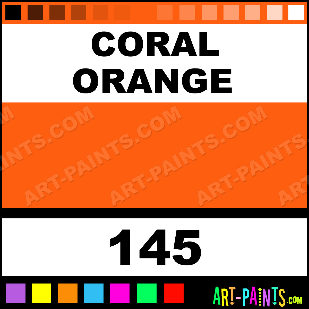 The Color Coral Orange