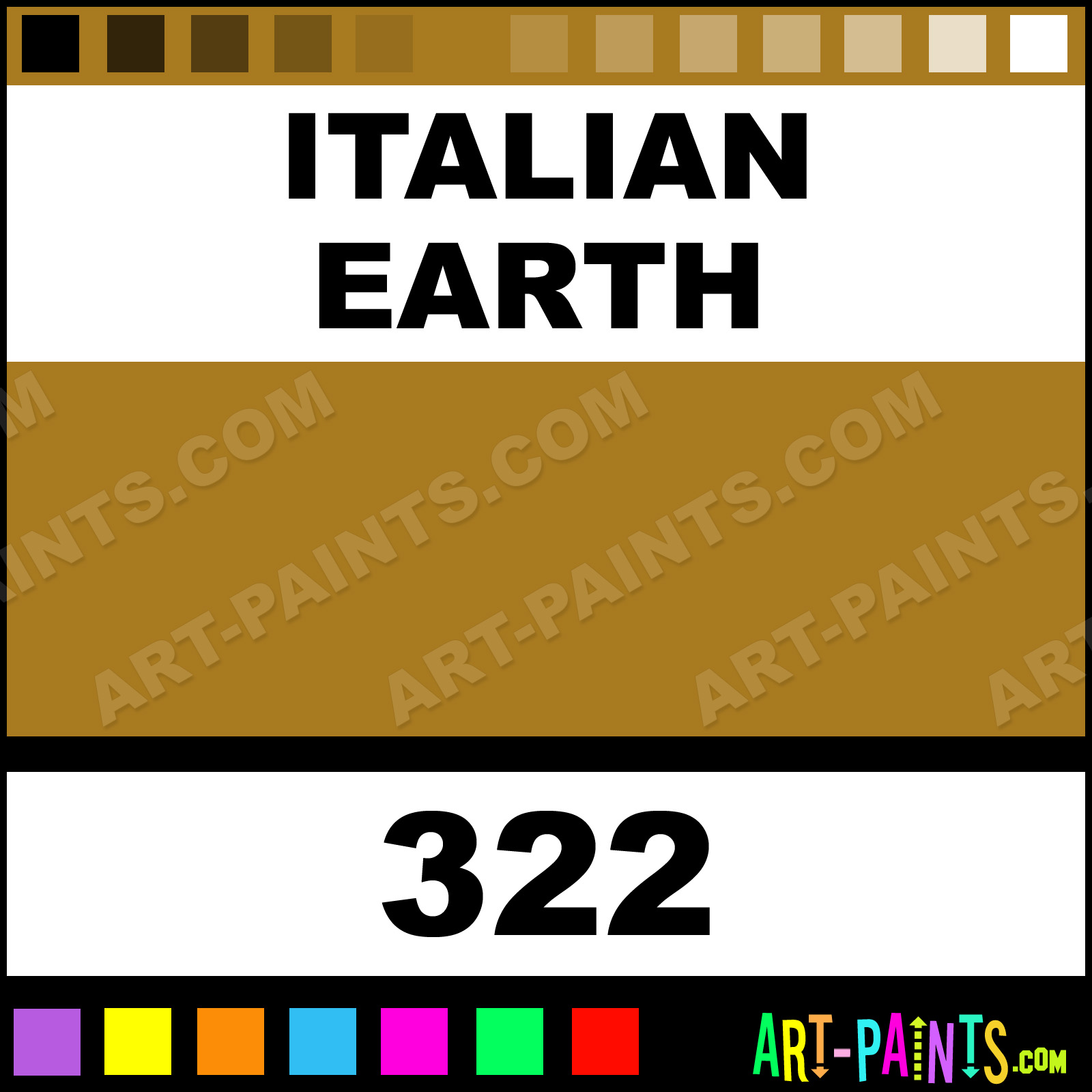 Earthy Ochre Paint Color: Italian Earth Classic Oil Paints