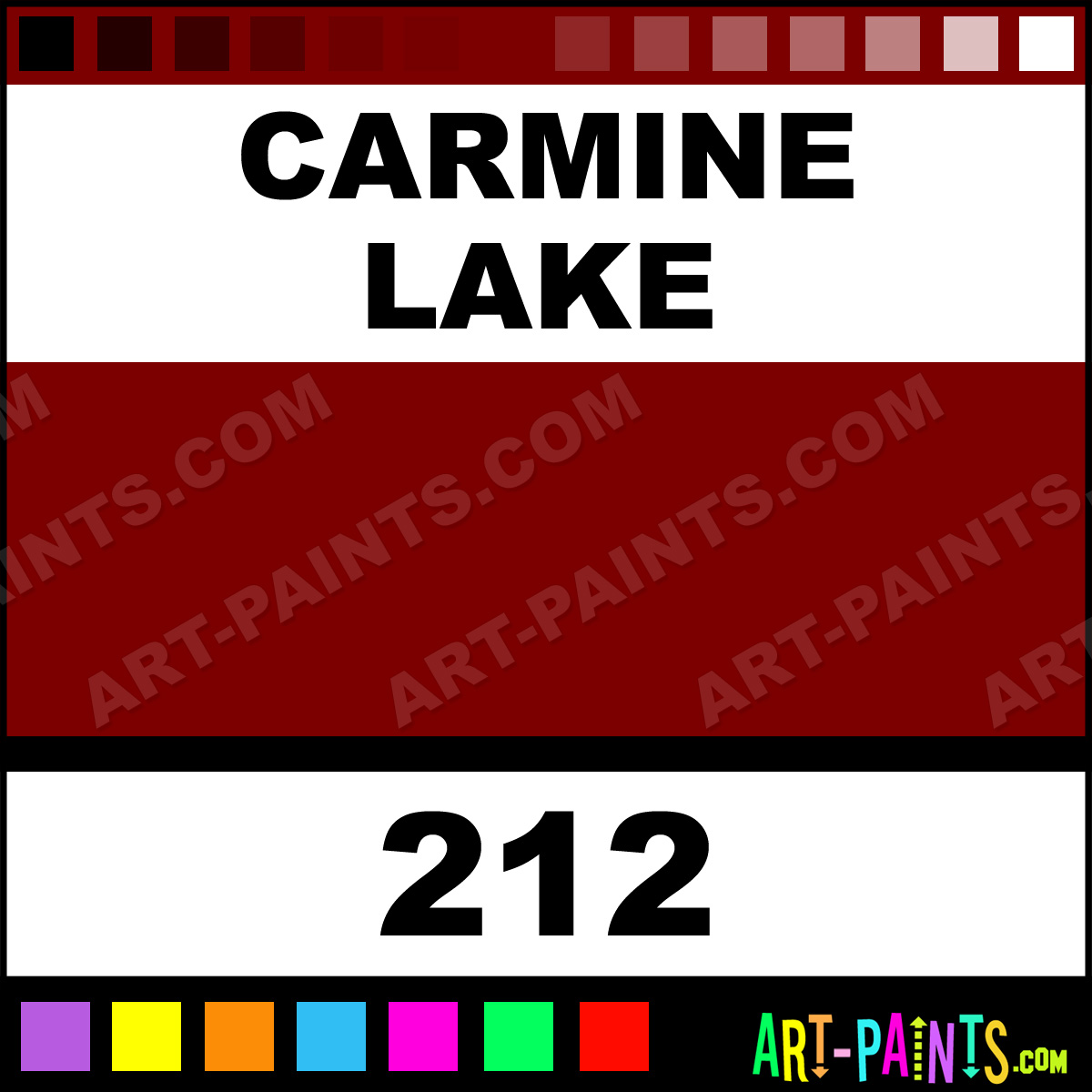 Carmine Lake Oil Paint