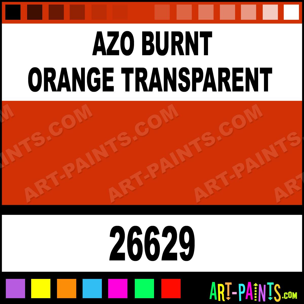 Azo burnt orange transparent artists oil paints 26629 - Burnt orange paint colors ...