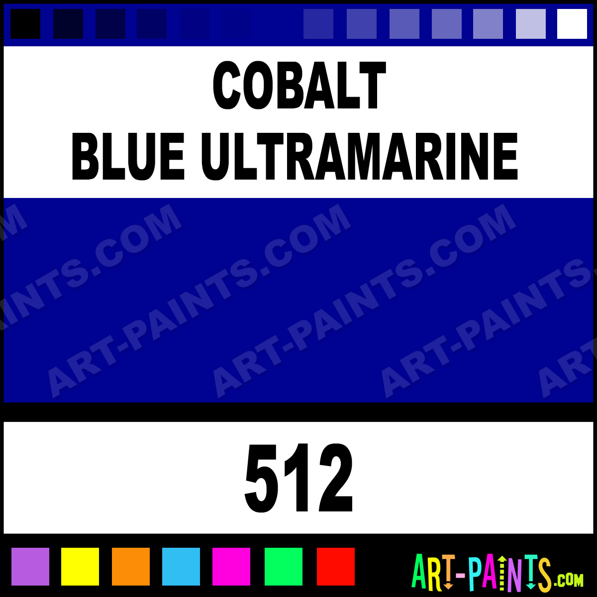 Cobalt Blue Paint Color: Cobalt Blue Ultramarine Artists Oil Paints