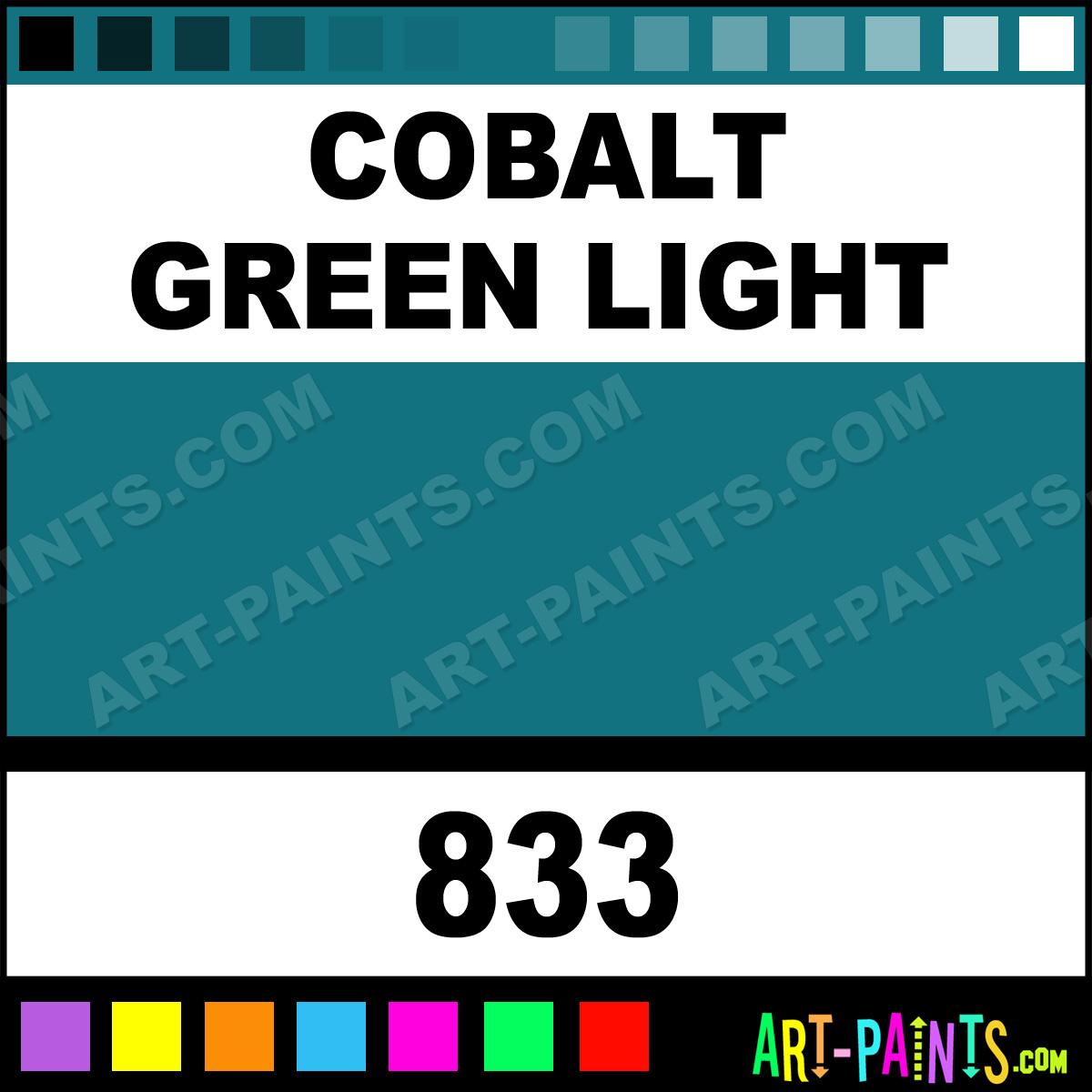Cobalt green light oil sticks oil paints 833 cobalt for Will oil paint stick to glass