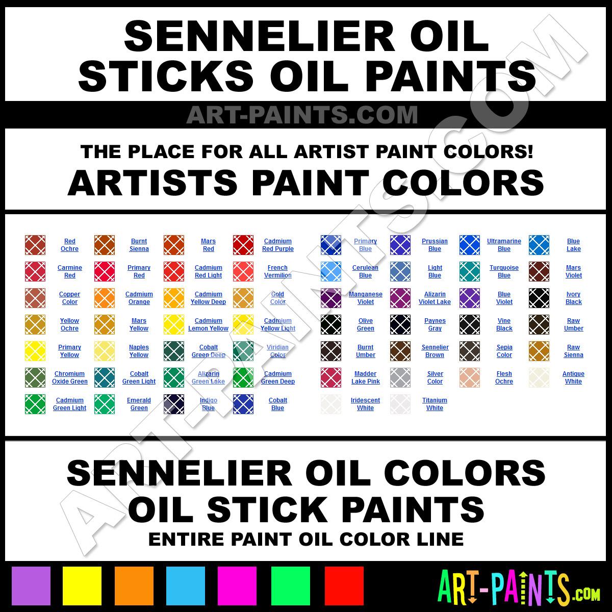 Sennelier oil sticks oil paint colors sennelier oil for Will oil paint stick to glass