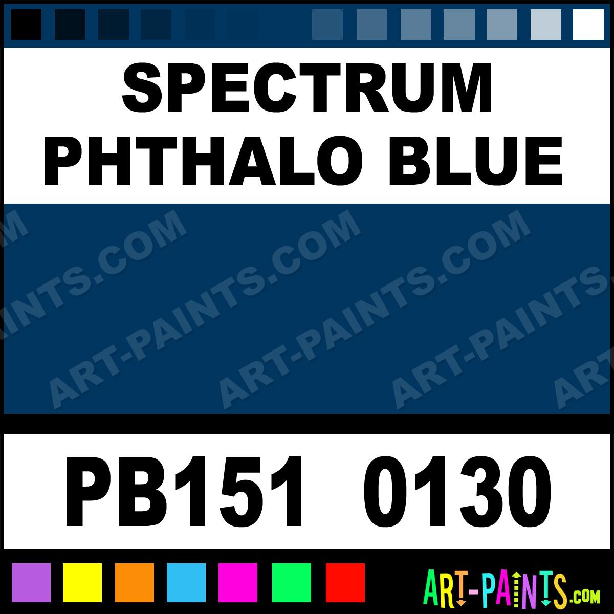 Spectrum phthalo blue artists oil paints pb151 0130 for Paint color spectrum