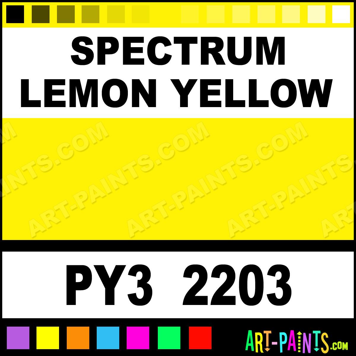 Spectrum lemon yellow eco oil paints py3 2203 spectrum for Paint color spectrum