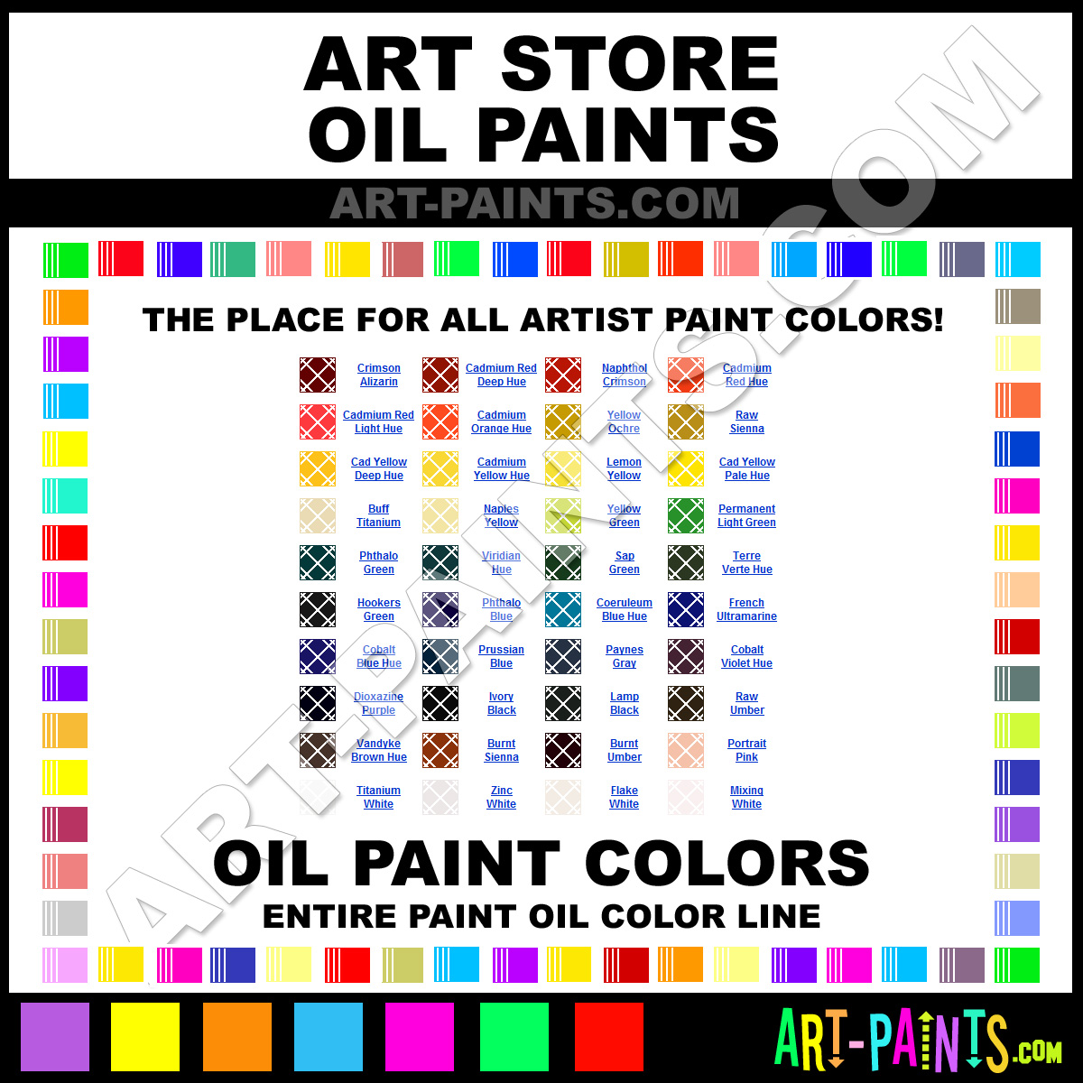 Artist oil paint colors the painting gallery for Artist canvas paint color