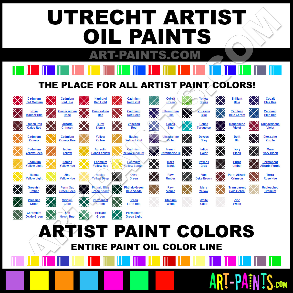 Artist Paint Colors Utrecht Artist Paints