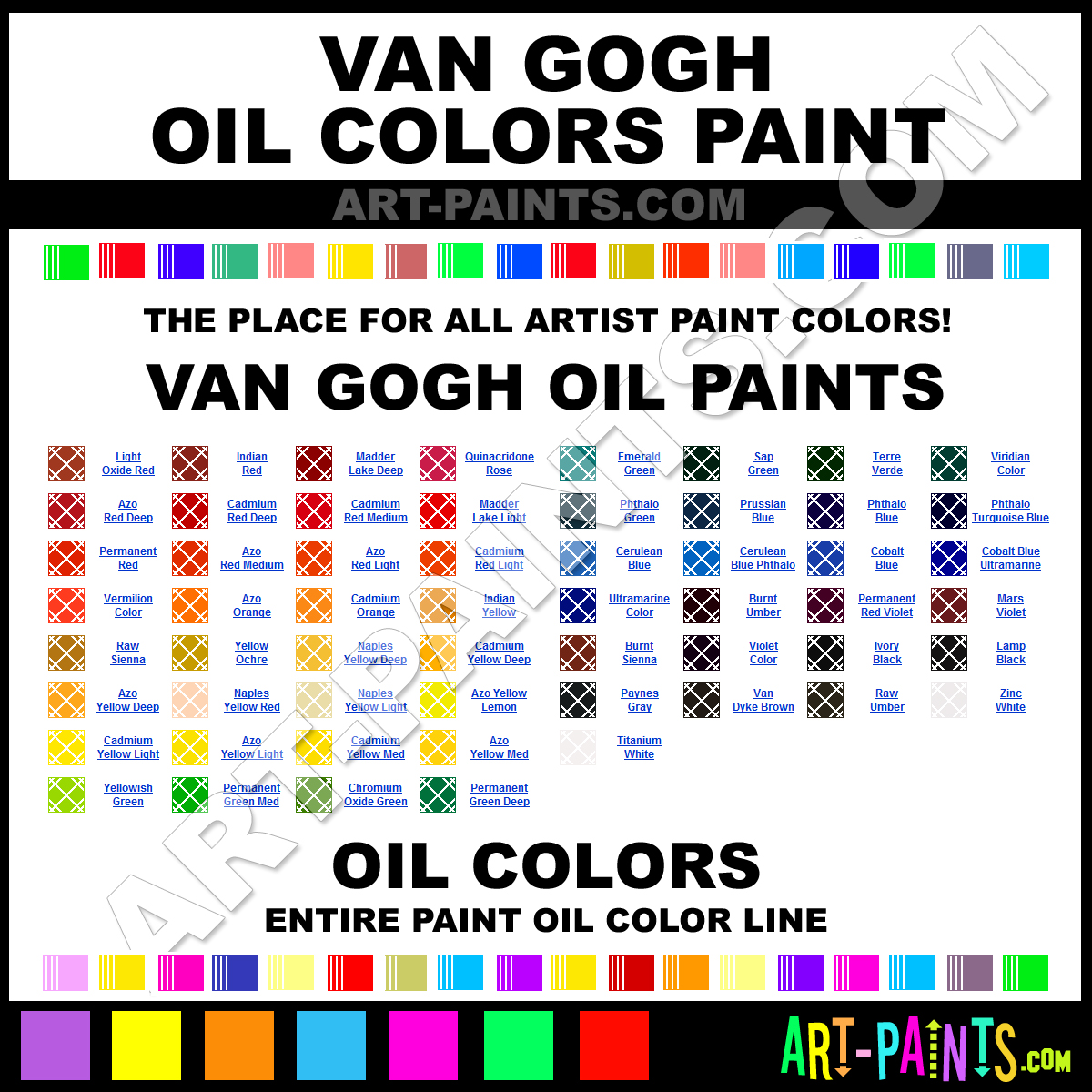 28 oil paint colors list oil art paints oil paint for Oil paint colors names